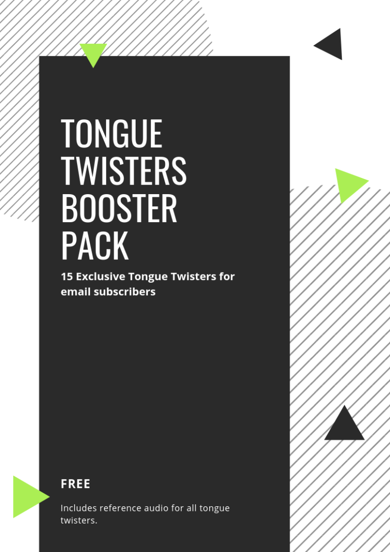 tongue twisters booster pack